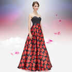 Ever-Pretty Sexy Floral Printed Formal Party Dresses Maxi Evening Gown 08381