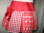 NEW CUTE Girls Christmas White,Red Reindeers,Nordic check Skirt,gift,party,