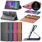 Vintage Leather Folding Wallet Case Cover Card Slots For Samsung Galaxy Note 4