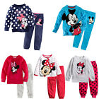 Lovely Minnie Mickey Mouse Dot Kids Girls Boys Nightwear Pajamas Set Sleepsuit