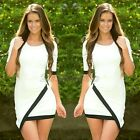 Nice Sexy Womens Short Sleeve Prom Ball Party Dress Formal Evening Gown 2Colors