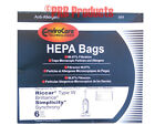 HEPA Vacuum Bags fit Type W Simplicity Synchrony SCRP, SCRD, SCRS and SCRD.FETCH