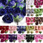50pcs 3x3.5cm Small Tea Rose Bud Silk Artificial Flower Heads Wedding Decor Lots