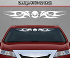 Design #157-02 SKULL Tribal Blade Windshield Decal Window Sticker Graphic Banner