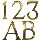 Large Solid Brass Numbers Letters With Screws 3/75mm House Home Front Door Entry