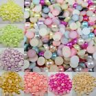 10.000pcs Half Pearl Beads FlatBack Scrapbook Craft FlatBack 2/3/4mm Mixed Color