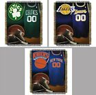 "Choose Your NBA Team 48 x 60"" Vintage Series Triple Woven Tapestry Throw Blanket"