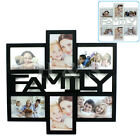 Multi Collage Photo Picture Large Frame 4 x 6 Aperture Wall Black White - Family