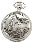 LEST WE FORGET WARTIME REMEMBRANCE MECHANICAL POCKET WATCH Mens Gift NEW RP£60