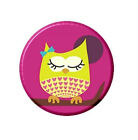 Cute Girl Owl necklace Pendant Mirror Button Magnet Bottle Opener Ring Pink