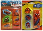 Pack of 4 Character ERASERS (Kids, School, Stationery, Disney, Marvel)