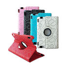 360 Rotation Diamond Gem Stone Design Leather Cover Case for Kindle Fire HDX 7""