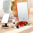 Bath Makeup Cosmetic Stand Mirror LED light Beauty Illuminated Shaving Mirror