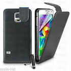 Leather Flip Case Cover + Screen Protector For New Samsung Galaxy S5 SM-G900