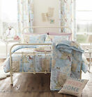 Catherine Lansfield Vintage Postcard Duvet Set Cotton Rich Birds & Music Quilt