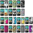 Colorful Rubberized Design Hard Snap-On Pattern Back Case For HTC Desire 510