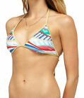 Roxy Juniors Golden Maze Fixed Tri Bikini Top-Multi