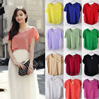 Korean Womens Loose Round Neck Bats Short Sleeve Chiffon T Shirt Blouses Tops