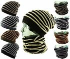 ITZU Co 3 in 1 Strip Slouch - Beanie - Neck - Face - Scarf Warmer Snood Cap Hat