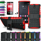 Shockproof Armor Heavy Duty Hybrid Stand Case Hard Cover For Oneplus One + Film