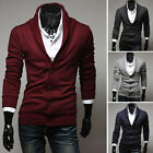 Fashion Men's Slim Fit Button Cotton Knit V-Neck Casual Jumper Sweater Cardigan