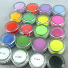 2 Pcs x Acrylic Dust Powder Nail Art Tips Builder 5g DIY UV Gel Decor 21 Colors