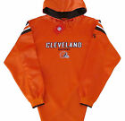 Cleveland Browns NFL Long Pass Team Colors Hoodie Jersey-Adult Large-NWT