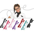 Hip Hop 50s Shop Adult Cateye Glasses Poodle Skirt Halloween Costume Accessory