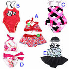 IMAKA BRAND Beachwear Swim Two-piece Cuter Girls Swimsuit Skirt Swimwear Bikini