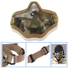 Paintball Tactical Military Airsoft Half Face Protective Safety Metal Mesh Mask