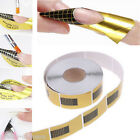 GOLD NAIL FORMS SCULPTING GUIDE ACRYLIC UV GEL TIPS EXTENSION STICKER NAIL ART