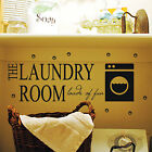 Quotes Lettering Laundry Kids Wall Stickers/Wall Decals