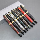 New arrival Jinhao X450 Fountain Pen Green Marble Medium Nib Gold Trim Business