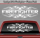 Design #116 FIREFIGHTER Tribal Flame Window Decal Sticker Vinyl Graphic Truck