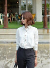 Autumn Girls Tops Long Sleeve Polo Neck Solid Career Body Con Loose Under Blouse