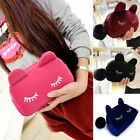 Cute Girls Cat Cosmetic Bag Coin Purse Cell Phone Case Suede Wallets Handbag J47