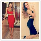 Fashion Women Sexy Backless Prom Top Pencil Skirt Sleeveless Two Piece Outfit LG