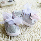 Infant baby girl gray crib shoes casual shoes size 0-6 6-12 12-18 months