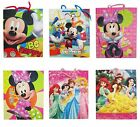 DISNEY Character GIFT BAGS - Kids Birthday Party Gift/Present (3 Sizes)