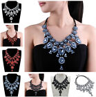 Fashion Jewelry Multi-color Glass Beaded Chain Cluster Bib Pendant Necklace