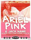 ARIEL PINK / JACK NAME 2014 PORTLAND CONCERT TOUR POSTER-Psychedelic Pop, Indie