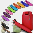 PU LEATHER PULL TAB POUCH CASE SKIN COVER + MINI STYLUS FITS HTC DESIRE 300 (XL)