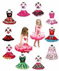 VALENTINE COLORFUL HEART shirt girl clothing pettiskirt DRESS UP outfit 1-8Y
