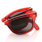 Limited Edition Tranluscent Folding Compact Pocket Horn Rimmed Sunglasses