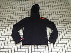 Superdry Womens Hooded Windcheater Ladies Black Orange Top Jacket Coat Rrp £75