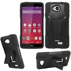Phone Case For LG Optimus F60 Rugged Hard Cover with Kickstand for LG Transpyre