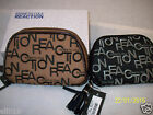 Kenneth Cole Reaction Zip Around Wallet  Black/Gray or Brown Embroidered  NWT