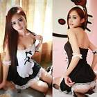 New Womens Lady Sexy Naughty Lace Maid Cosplay Outfit Costume Lingerie G-string