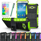 Rugged Armor Hybrid Stand Case Cover For Samsung Galaxy Grand Prime G530H + LCD