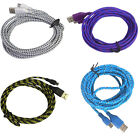 3M/10FT Hemp Rope Micro USB Charging Sync Data Cable Cord for Samsung HTC Huawei